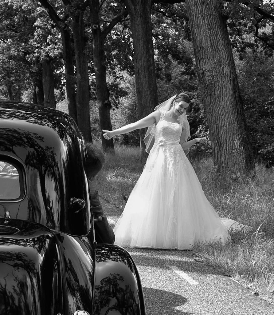 Weer een blij bruidspaar/ zie ook portfolio bruidsfoto's